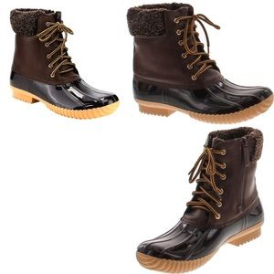 Waterproof Insulated Brown Duck Boots